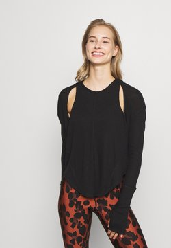 Free People - LAY UP TEE - Pitkähihainen paita - black