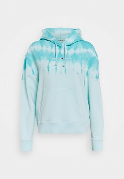 Tommy Jeans - SUMMER TIE DYE HOODIE - Huppari - light blue