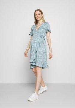 ONLY - OLMOLIVIA WRAP DRESS - Vestido ligero - dusk blue