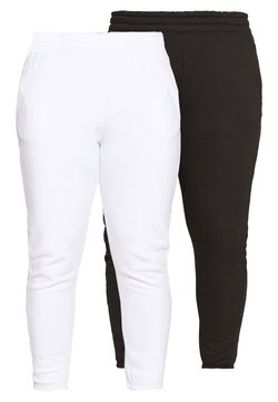 Missguided Plus - JOGGER 2 PACK - Jogginghose - black/ white