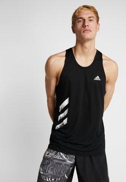 adidas Performance - SINGLET - Camiseta de deporte - black