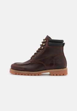 Lumberjack - Lace-up ankle boots - brunello/black