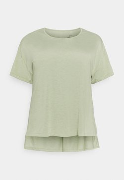 Nike Performance - YOGA LAYER PLUS - T-Shirt basic - celadon/olive aura