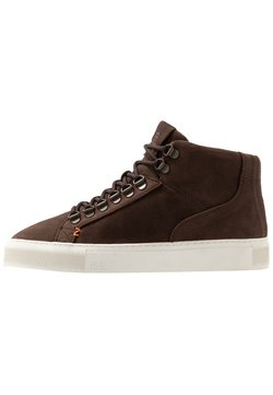 HUB - MURRAYFIELD - Sneakers hoog - dark brown/offwhite