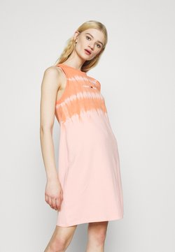 Tommy Jeans - SUMMER TIE DYE TANK DRESS - Day dress - sweet peach/multi