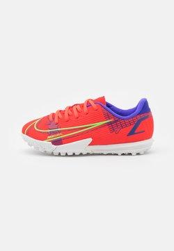 Nike Performance - JR MERCURIAL VAPOR 14 ACADEMY TF UNISEX - Voetbalschoenen voor kunstgras - bright crimson/metallic silver