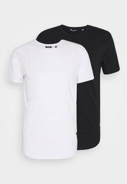 Only & Sons - ONSMATT LONGY TEE 2 PACK - T-Shirt basic - black/white
