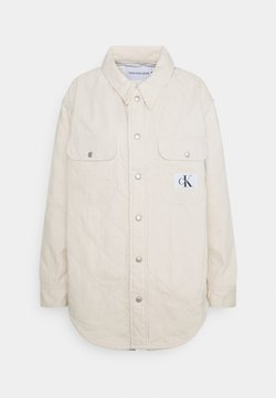 Calvin Klein Jeans - PADDED SHIRT JACKET - Kurzmantel - denim light