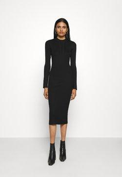 Vila - VIKNITTA DRESS - Gebreide jurk - black