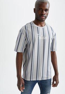 DeFacto - T-Shirt print - silver