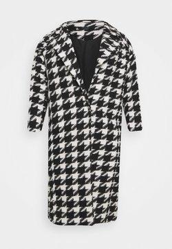 Simply Be - DOGTOOTH COAT - Abrigo - black/white
