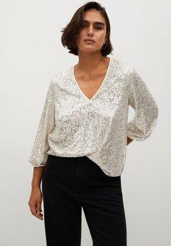Violeta by Mango - REMEMBER - Bluse - stříbrná