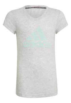 adidas Performance - MUST HAVES T-SHIRT - T-shirt med print - white