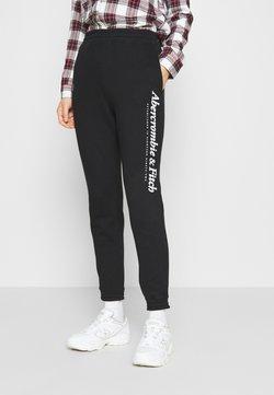Abercrombie & Fitch - GARAMOND LOGO CLASSIC - Jogginghose - black
