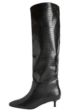 Next - FOREVER COMFORT KITTEN HEEL LONG - Stiefel - black