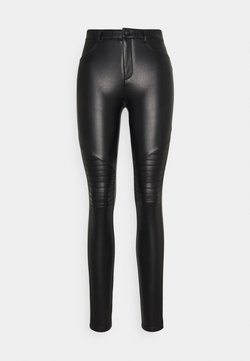 ONLY Tall - ONLROYAL-MARIA FAUX LEATHER BIKER  - Broek - black