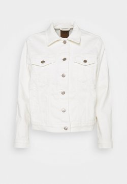 GAP Petite - ICON JACKET STRETCH - Denim jacket - ivory frost