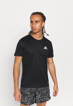 adidas Performance - P.BLUE TEE MEN - T-shirt z nadrukiem - black/silver