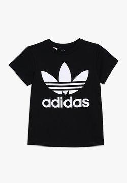 adidas Originals - TREFOIL - T-shirt z nadrukiem - black/white