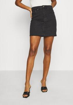 Gina Tricot - VINTAGE SKIRT - Jupe en jean - black denim