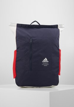 adidas Performance - TOP ZIP BACK TO SCHOOL SPORTS BACKPACK UNISEX - Reppu - dark blue