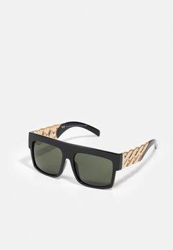 Urban Classics - SUNGLASSES ZAKYNTHOS WITH CHAIN - Gafas de sol - black/gold-coloured