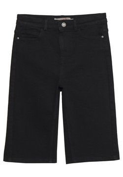 PIECES Tall - PCKAMELIA  LONG  - Shorts di jeans - black