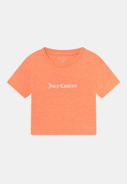 Juicy Couture - CROP BOXY TEE - Printtipaita - summer neon orange