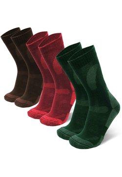 Danish Endurance - 3 PACK - Sokken - multicolor (green, brown, red)