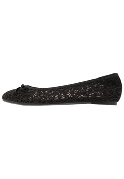 Evans - WIDE FIT RILEY  LACE BALLET - Ballerina's - black