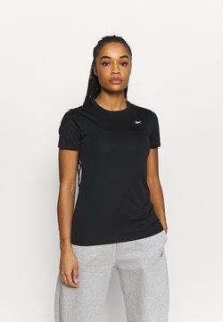 Reebok - RUN ESSENTIALS T-SHIRT - Camiseta de deporte - black