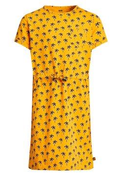 WE Fashion - MET PALMBOOMDESSIN - Freizeitkleid - ochre yellow