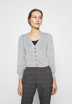 Dorothy Perkins - PUFF SLEEVE BRUSHED CARDIGAN - Gilet - grey