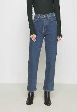 NA-KD - HIGH WAIST - Jeans straight leg - mid blue