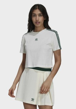 adidas Originals - TENNIS LUXE CROPPED ORIGINALS CROP - T-Shirt print - white