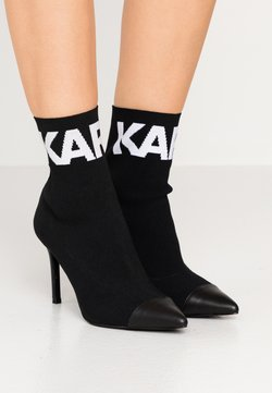 KARL LAGERFELD - COLLAR ANKLE  - Bottines à talons hauts - black