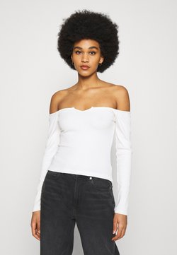 Nly by Nelly - OFF SHOULDER - Langarmshirt - white