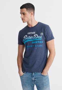 Superdry - VINTAGE  - T-shirt imprimé - blue
