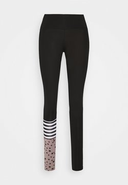 Hey Honey - LEGGINGS SURF STYLE DOTS  - Tights - black