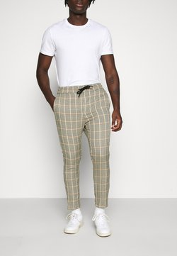 Only & Sons - ONSLINUS CROPPED CHECK PANT - Stoffhose - wind chime