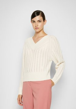 Theory - TEXTURED - Sweter - ivory