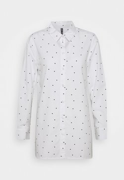Pieces - PCELOISE LONG SHIRT - Skjorta - bright white