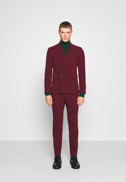 Lindbergh - DOUBLE BREASTED SUIT - SLIM FIT - Kostuum - bordeaux
