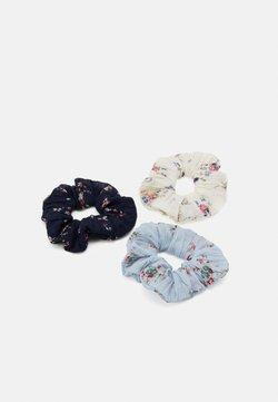 Pieces - PCFLOWY SCRUNCHIE 3 PACK - Haar-Styling-Accessoires - navy blazer