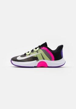 Nike Performance - COURT AIR ZOOM TURBO - Zapatillas de tenis para todas las superficies - black/white/fierce purple/liquid lime
