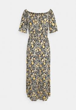 LASCANA - Jerseykleid - schwarz/gelb