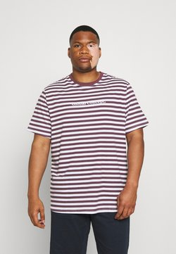 Johnny Bigg - GLOBAL STRIPE LONGLINE TEE - T-Shirt print - plum
