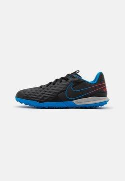 Nike Performance - JR TIEMPO LEGEND 8 ACADEMY TF UNISEX - Hiekkakengät - black/siren red/light photo blue