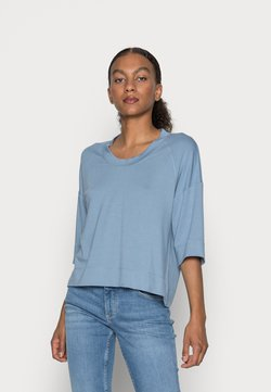 Marc O'Polo - CROPPED WIDE FIT WIDER SHORT SLEEVES - T-shirt basic - fall sky