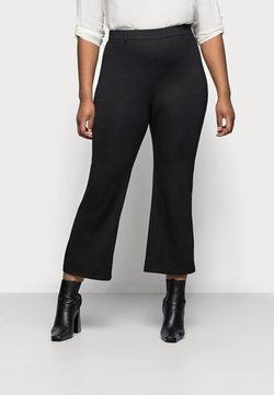 Even&Odd Curvy - Flared PUNTO trousers - Pantalon classique - black